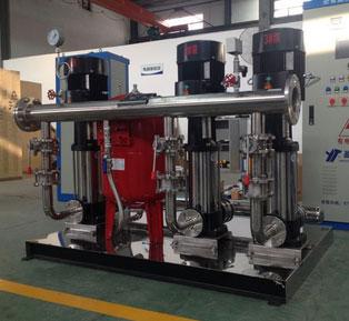 4,按所需压力,根据用水量的变化来调节电机泵的转速,使设备恒压供水